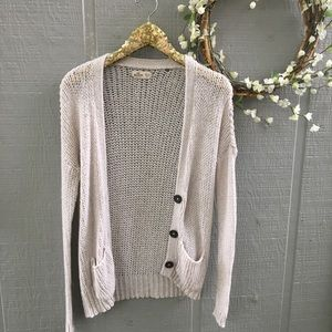 Hollister knit cream button sweater cardigan. XS S